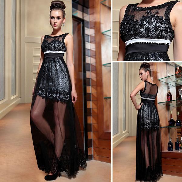 Elegant and Sexy Black Lace Dress