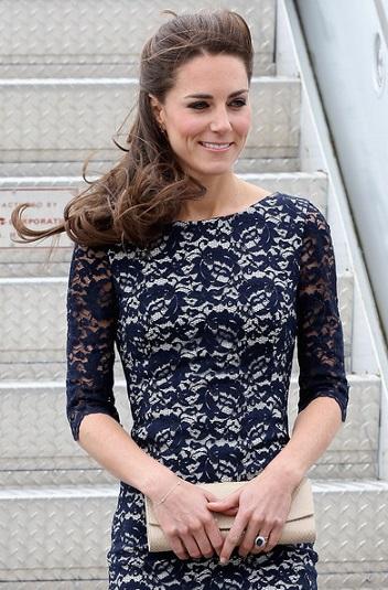 Lovely Lace Navy Dress