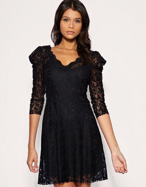 Sexy Black Lace Dress