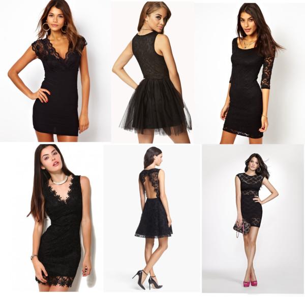 Shop for Womens Little Black Lace Dress