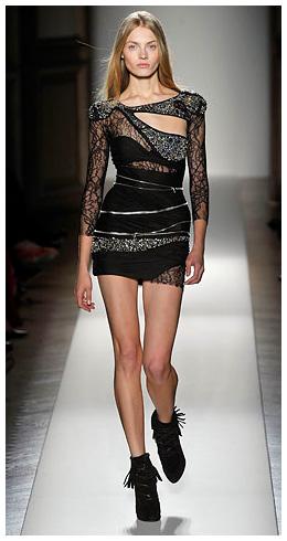 Stylish Short Black Lace Dress