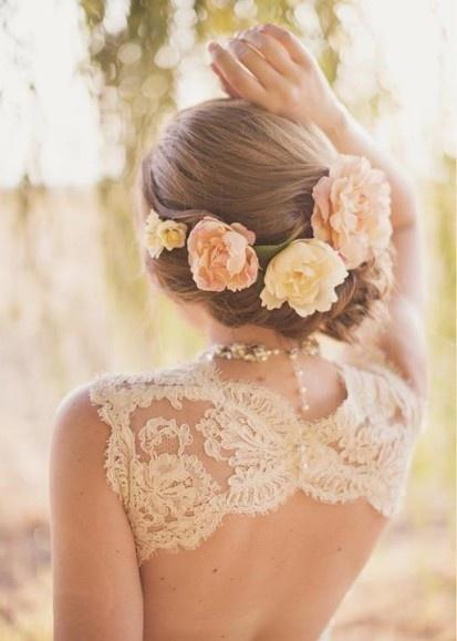 Wedding Lace Cream Dress