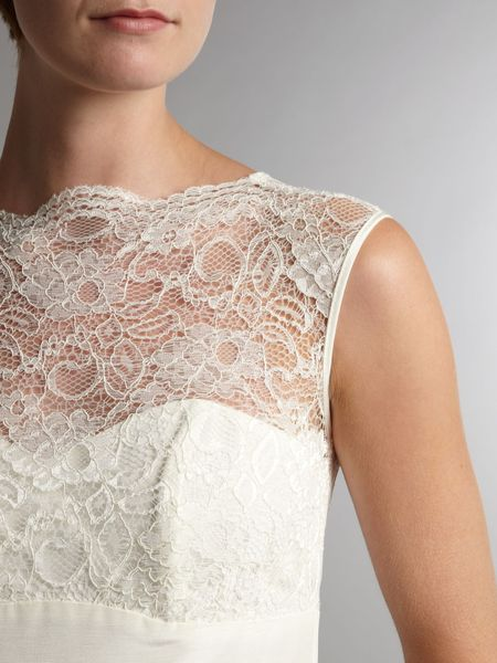 All About White Lace Shift Dress