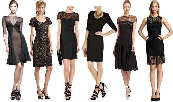 Black Lace Sheath Dress Design Ideas