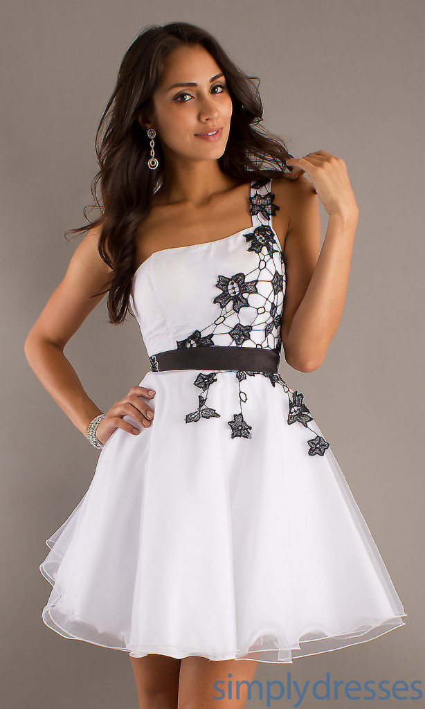 Buy Cheap White Lace One Shoulder Dress