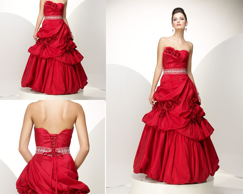 Cheap Trendy Red Wedding Dresses