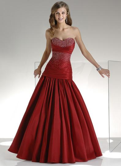 Elegant Red Wedding Dress
