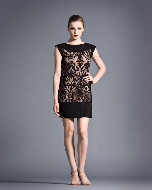 Lovely Black Lace Shift Dress