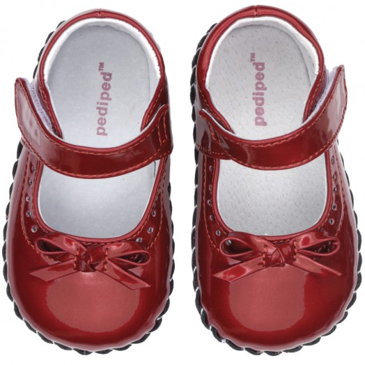 Pediped Girls Red Dress Shoes