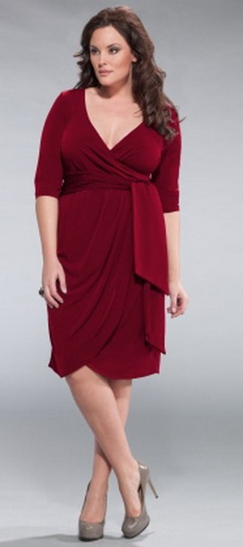 Red Sexy Cheap Plus Size Cocktail Dresses