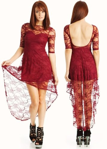 Sexy Red Lace Dress for JuniorsRed And Black Dresses For Juniors