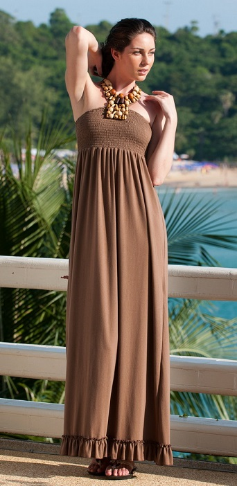 Shop for Brown Long Casual Summer Dresses