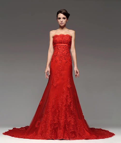 Shop for Sexy Red Lace Wedding Dress