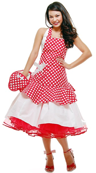 Unique Red And White Polka Dot Dress