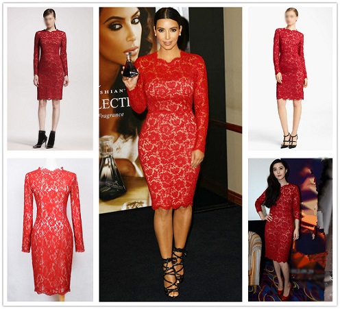 All About Red Lace Cocktail Dress
