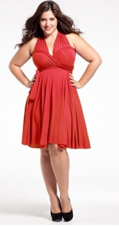 All About Red Wrap Dress Plus Size