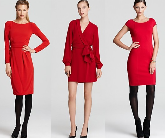 Elegant Red Wrap Around Dress