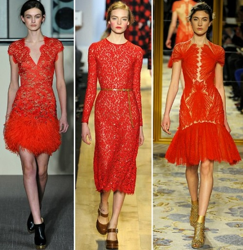 Buy Used Cheap Red Lace Dress