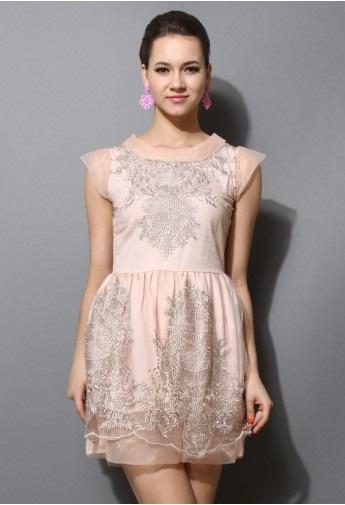 Classic Style Peach Dress