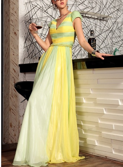 Classic Yellow Winter Formal Dresses
