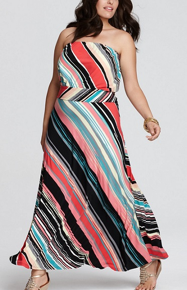 Colorful Plus Size Maxi Dresses