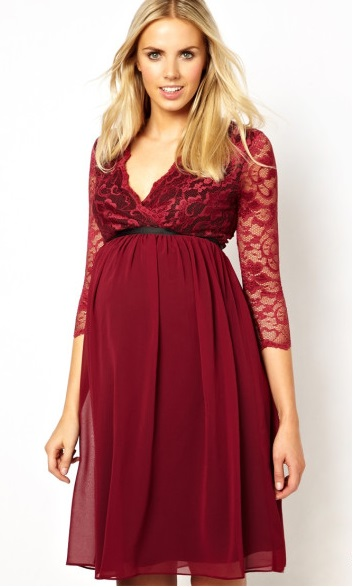 Comfy Maternity Red Lace Dresses