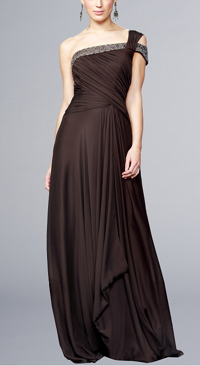 Dark Brown Evening Gowns