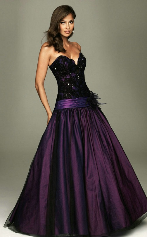 Dark Purple Beauty Pageant Dresses