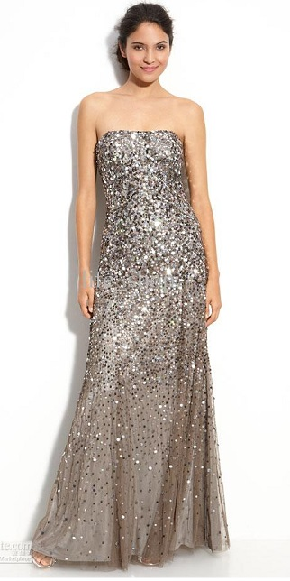 Find Cheap Gray Sequin Prom Dresses