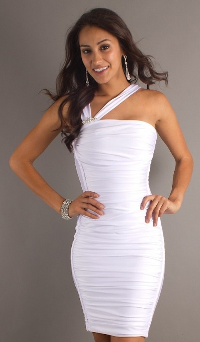 Fitted White Dresses For Women