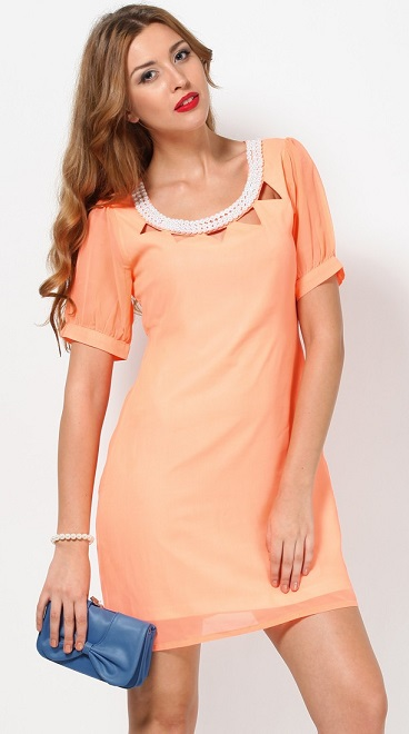 Get Short Peach Dress