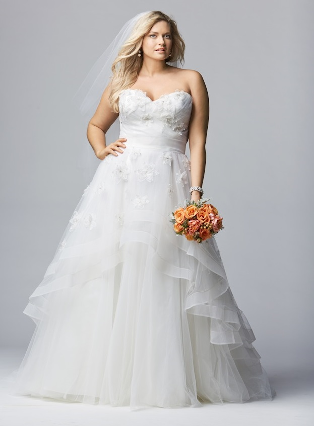 Gorgeous White Plus Size Wedding Dresses