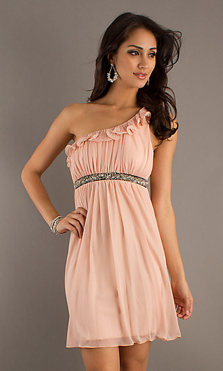 Lovely Peach Dress For Party
