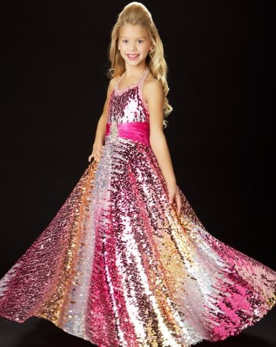 Pink Glitz Pageant Dresses