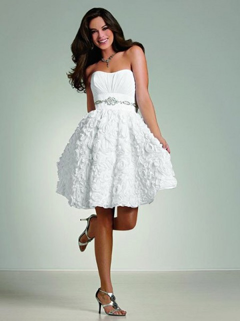 Pretty Short White Dresses For Wedding