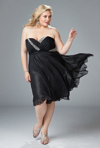 Sexy Black Plus Size Homecoming Dresses