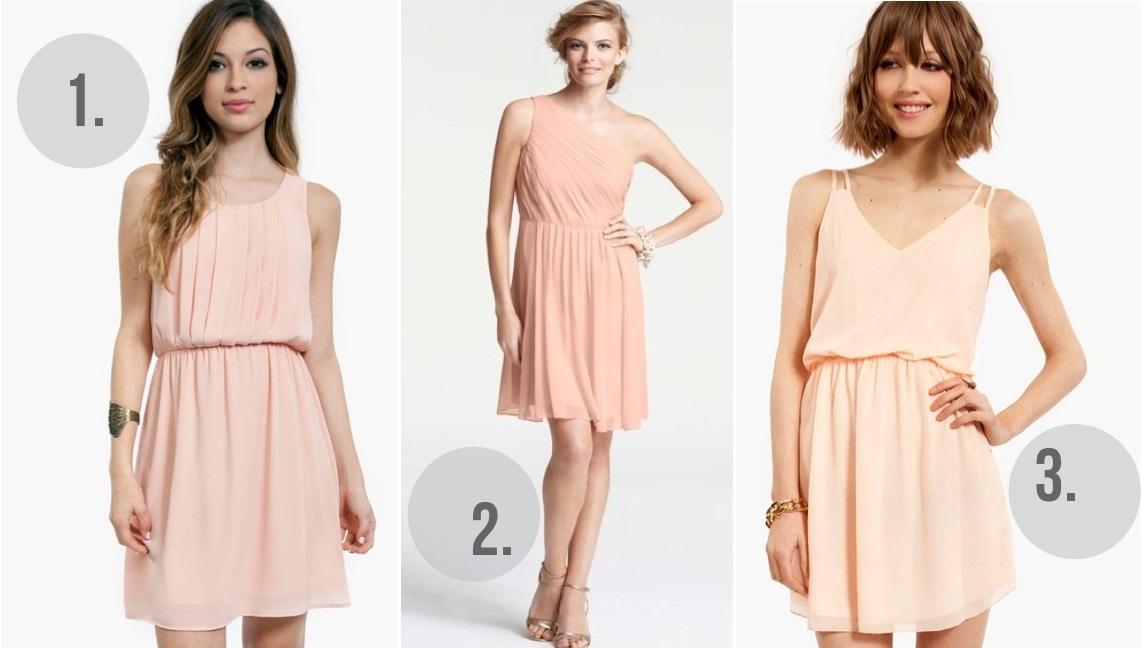 Simple Beautiful Peach Dress