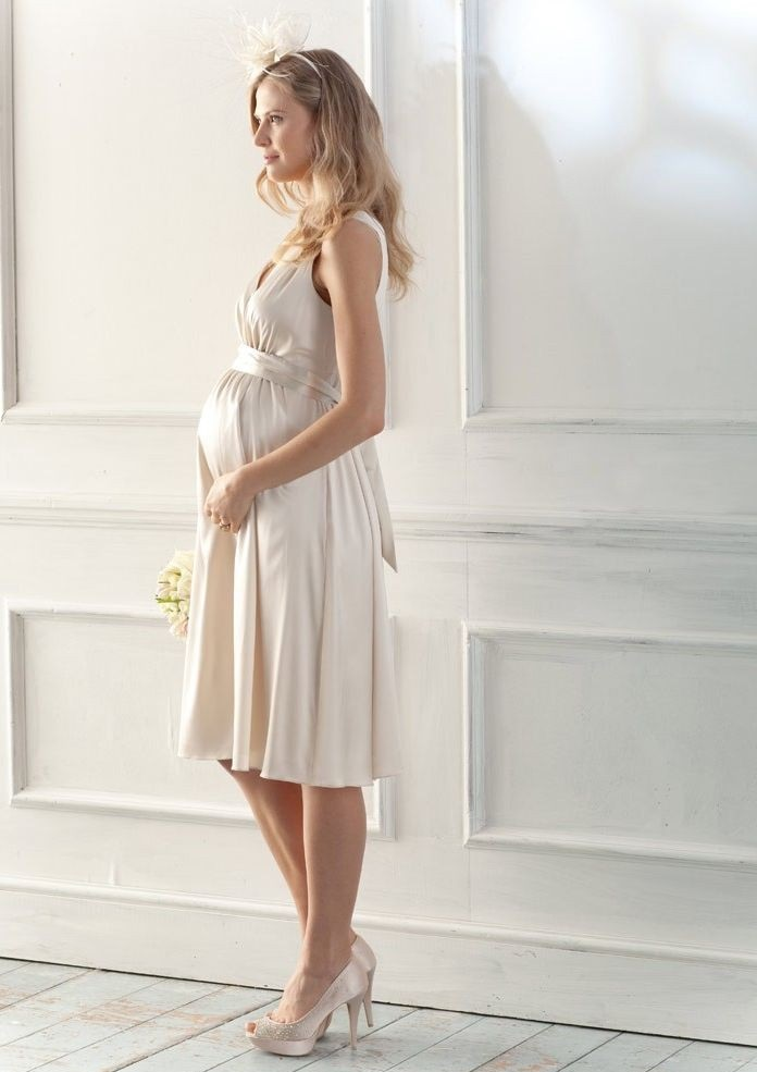 White Satin Maternity Wedding Dresses