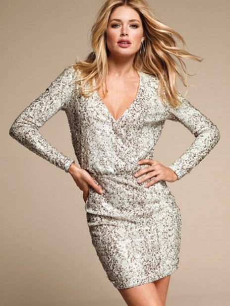 White Sequin Party Dresses for Women