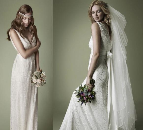 White Vintage Wedding Dresses